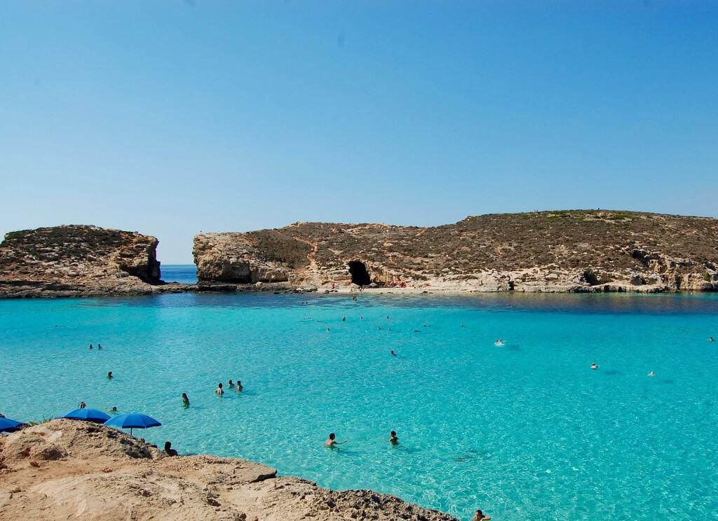 Malta - Blue Lagoon - Cominotto and Swimmers