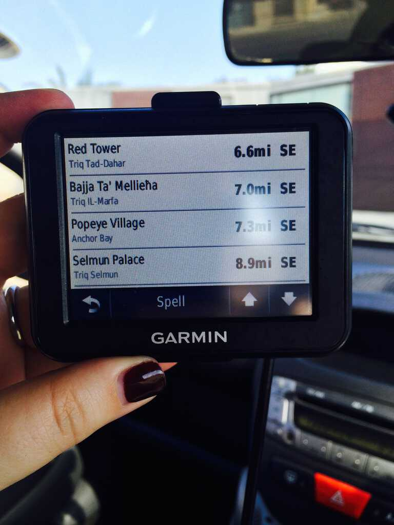 A humorous find on the GPS in Malta