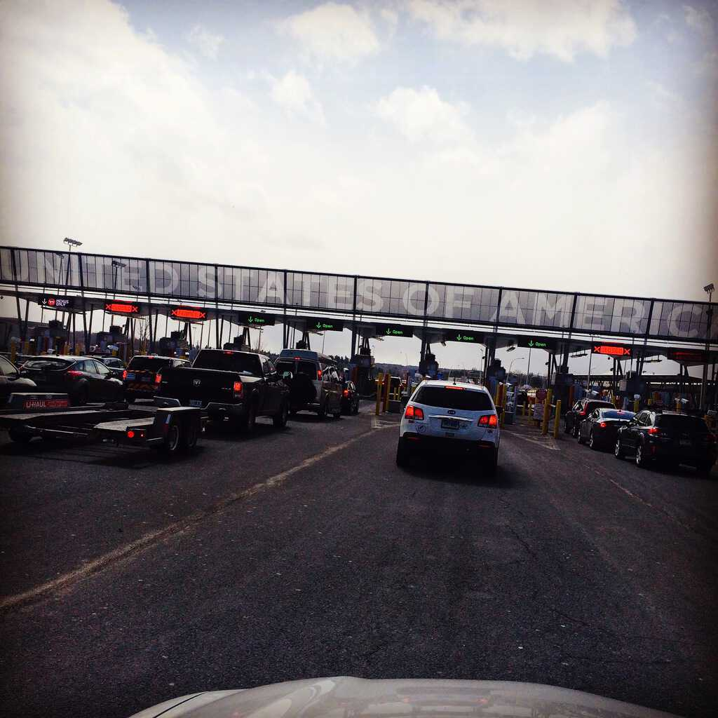 Crossing the border back to New York.