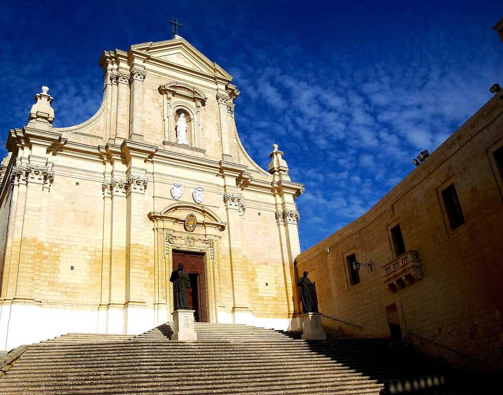 The Gozo Cathedral in the Citadel in Victoria