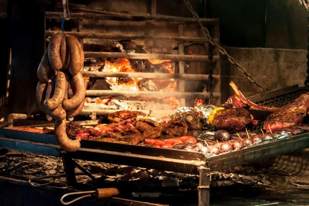 Uruguay - Montevideo - Barbecue in restaurant in Mercado del Puerto