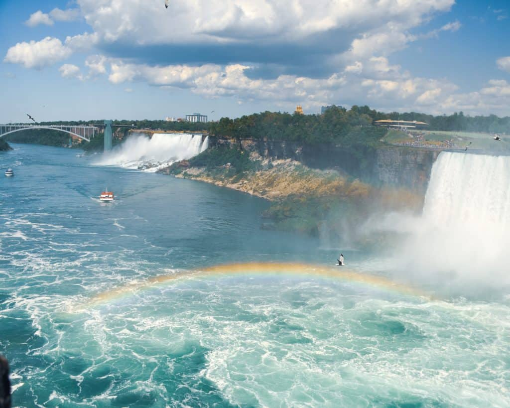 Canada - Niagara Falls - Rainbow between Canadian Falls and American Falls
