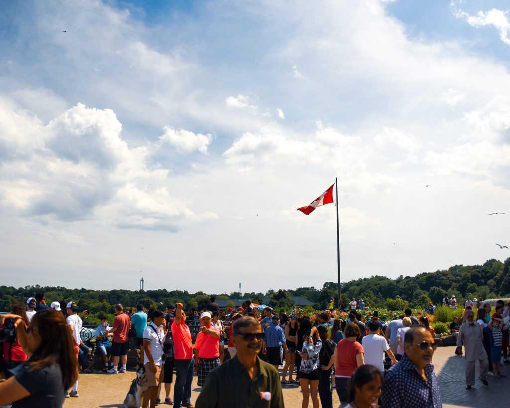 Canada - Niagara Falls - Canadian Flag