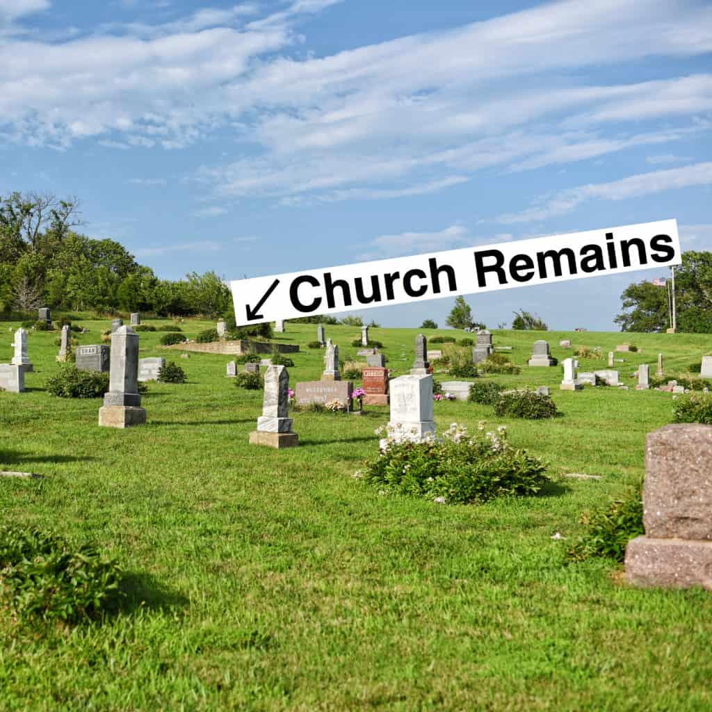 The foundation of Stull Church