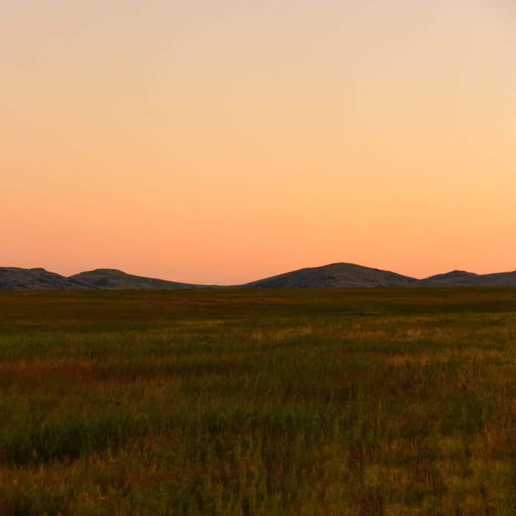 Wichita Mountains Wildlife Refuge at Sunset