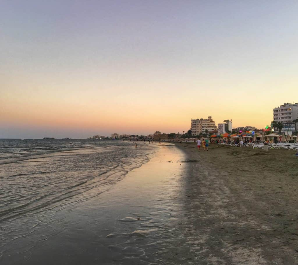 Finikoudes Beach at Dusk