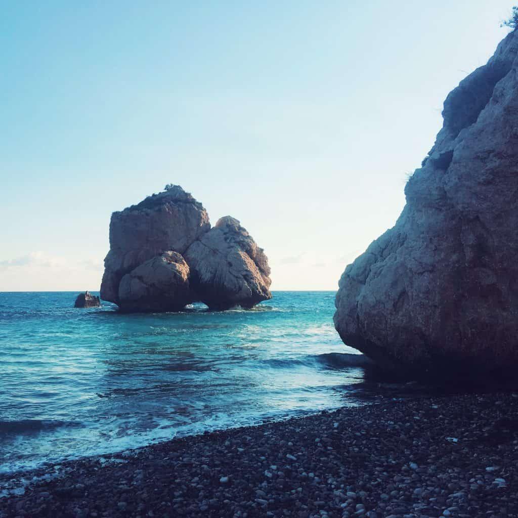 Petra tou Romiou, also known as Aphrodite's Rock