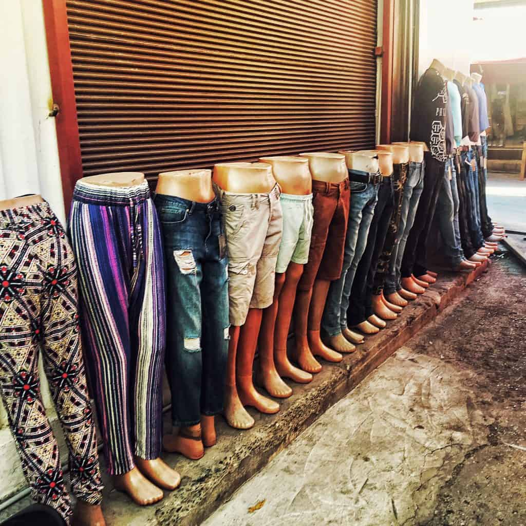 Jeans for sale in the Arasta