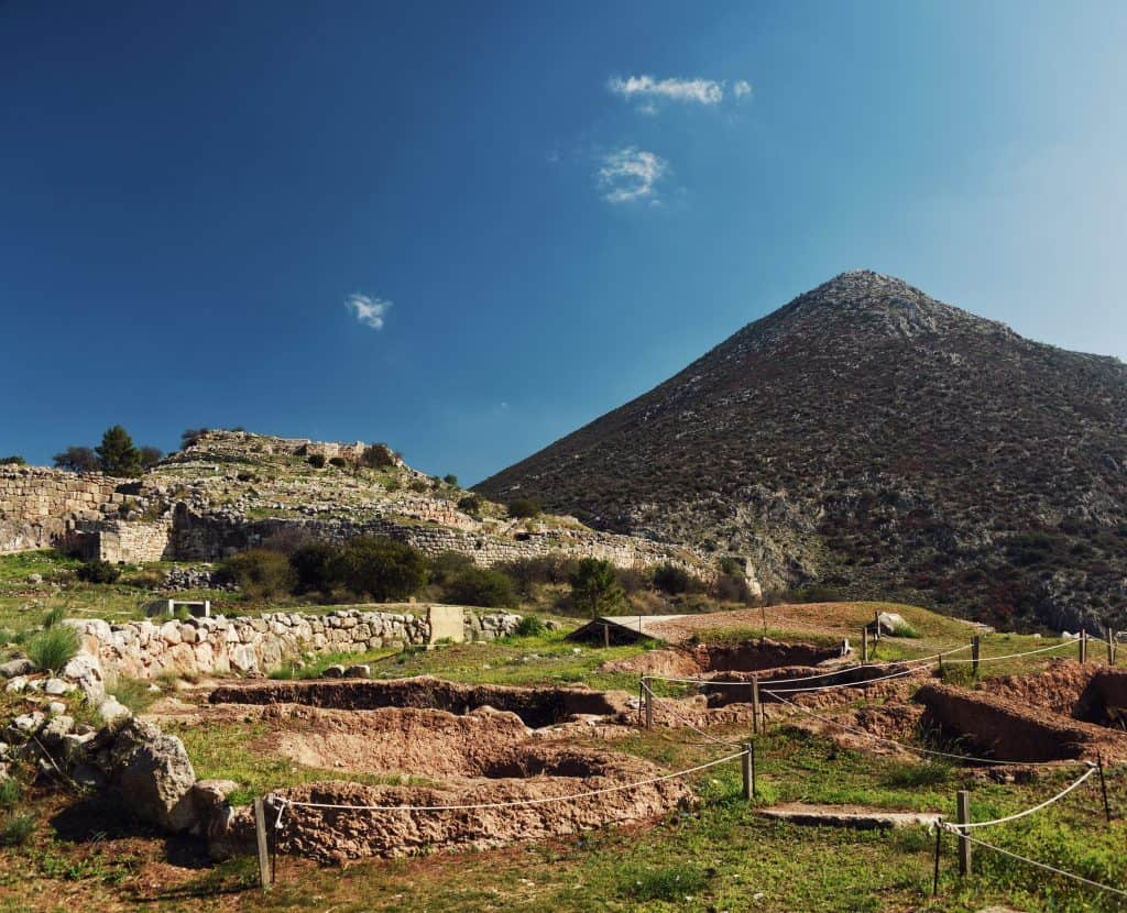View of the Citadel on the Acropolis at Mycenae
