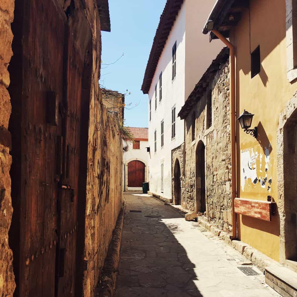 Walking around the Old Town in Limassol