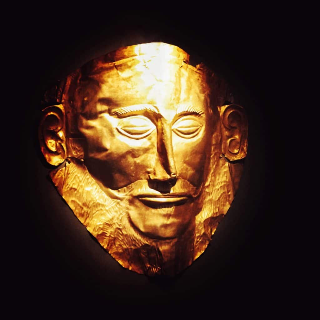 The Mask of Agamemnon, housed in the National Archaelogical Museum in Athens