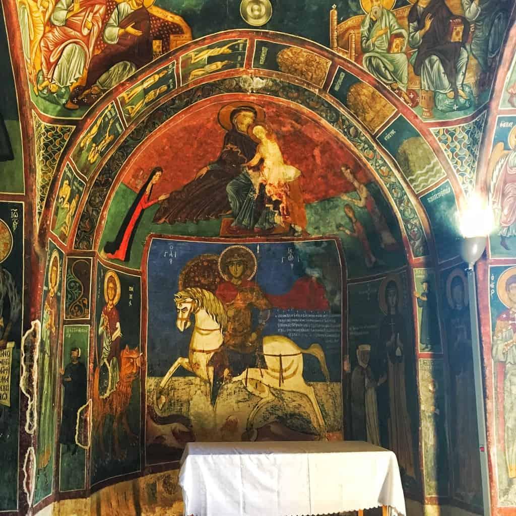 Frescoes in Panagia Asinou