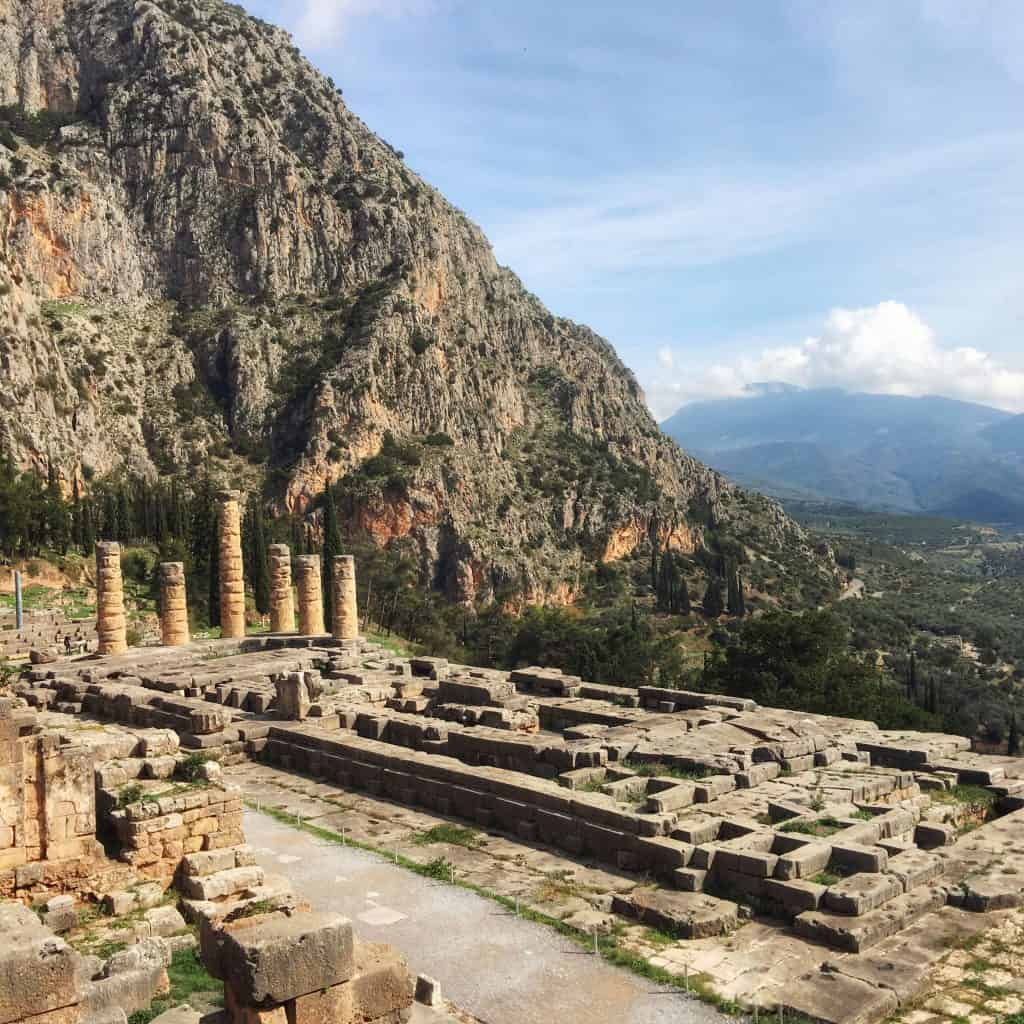 This photograph of the Oracle at Delphi has eight layers