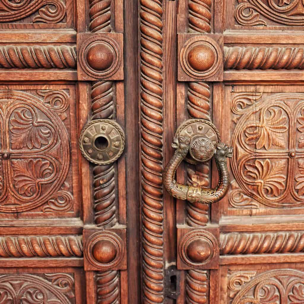 The doors of Alexander Nevsky Cathedral