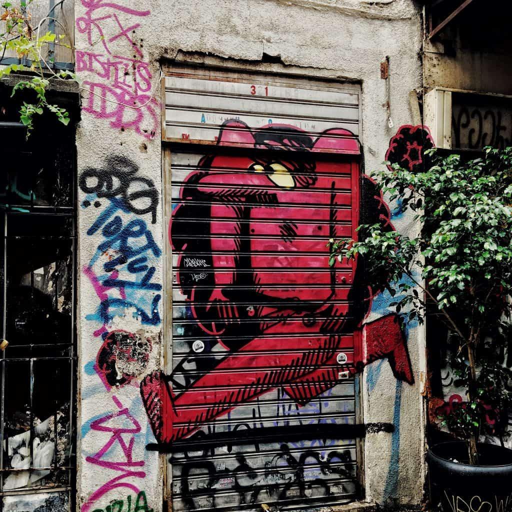 A red man in Monastiraki