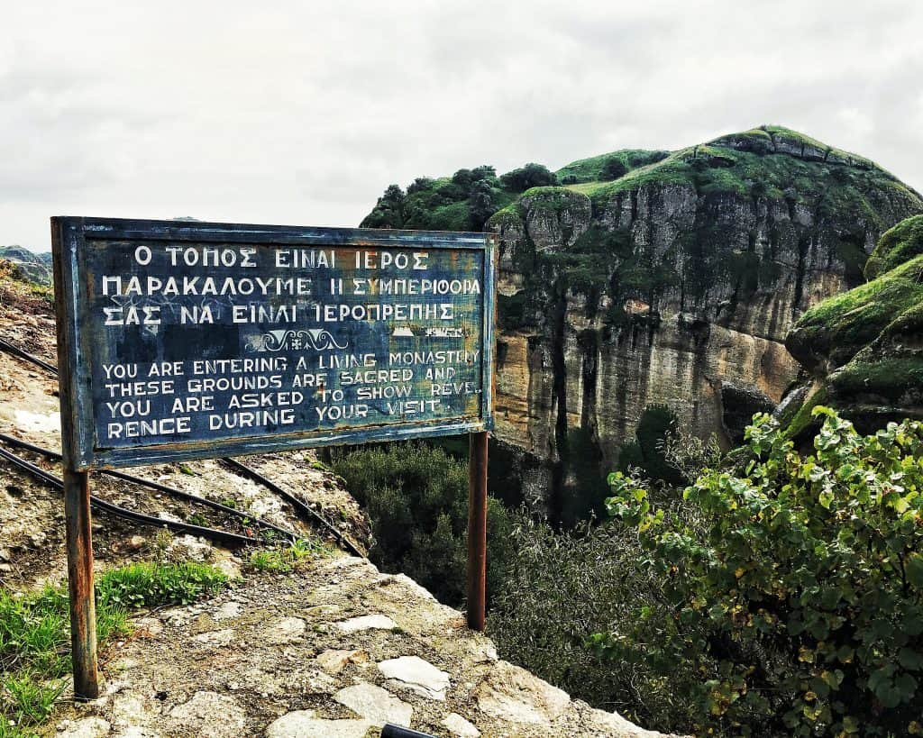 Entering the Great Meteoron Monastery