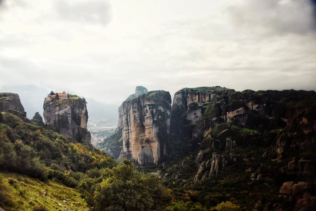 """Holy Trinity Monastery in Meteora, the scene for the James Bond movie """"For Your Eyes Only"""""""