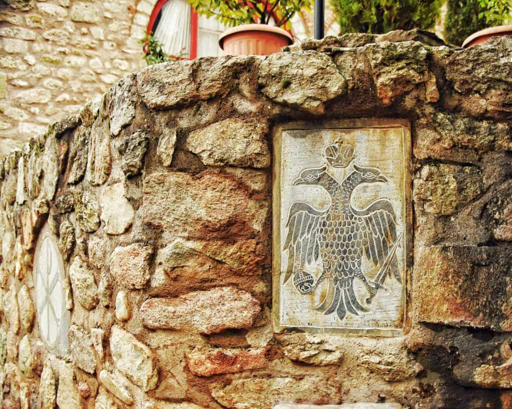 The double-headed eagle symbol of the connection of the Eastern Orthodox Church and the Byzantine Empire