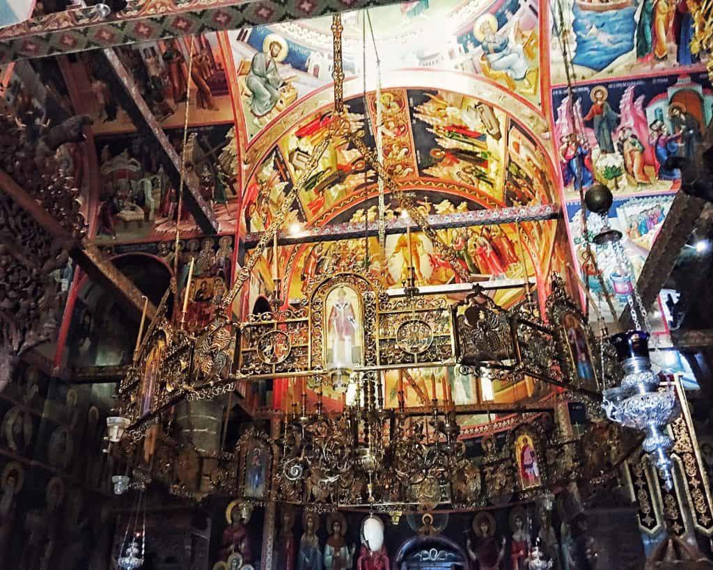 Inside St. Stephens Monastery in Meteora