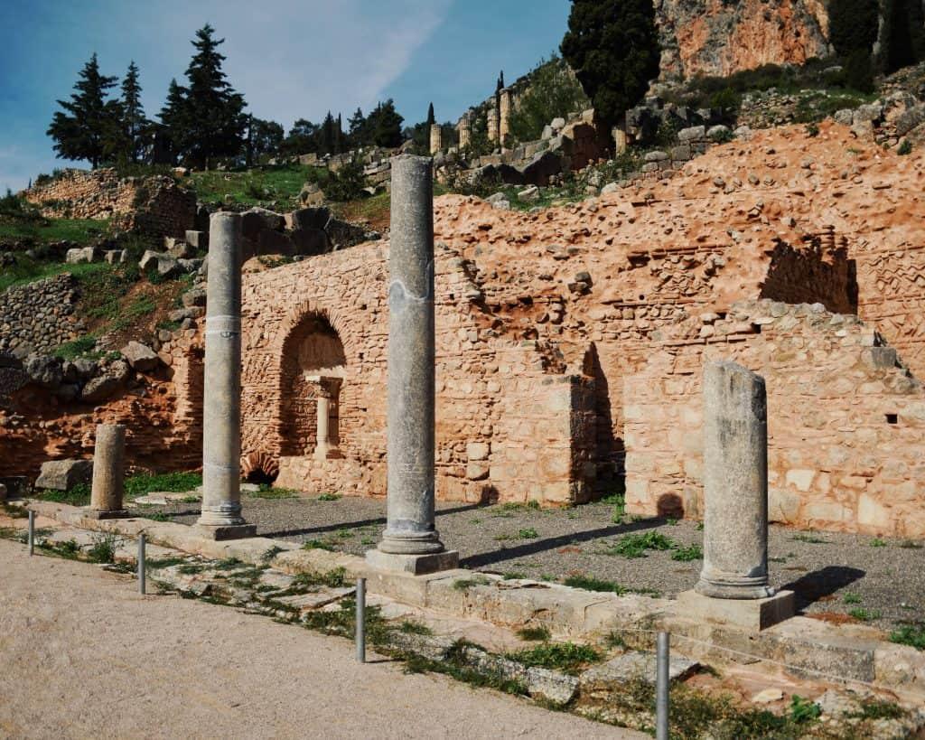 The Roman market at Delphi