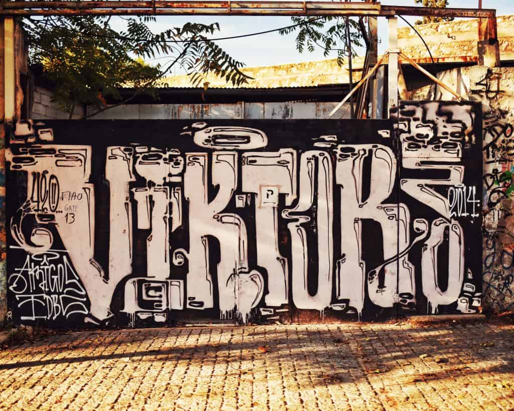 A mural near Keramikos cemetery. It reminds me of a craft beer label, which makes me seriously dig it for some reason.