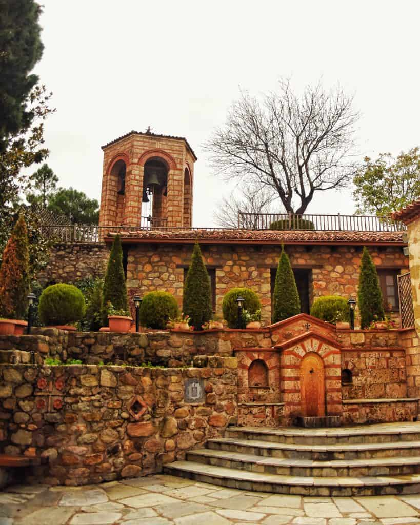 The grounds of the Great Meteoron Monastery in Metoera
