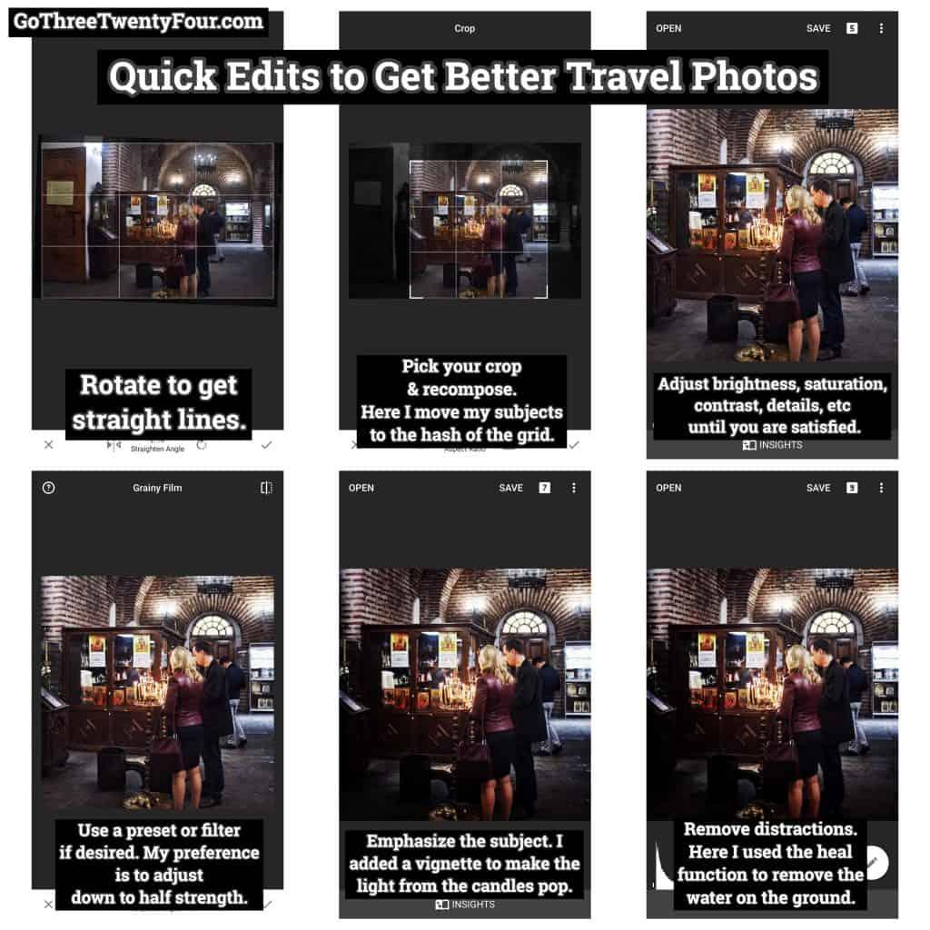 Quick Edits to Improve Travel Photos