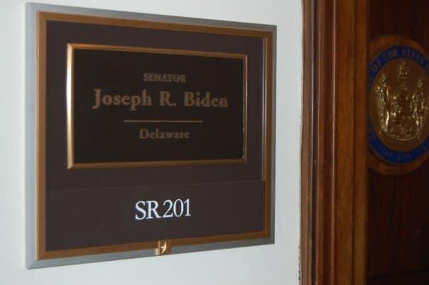 Washington DC - Presidential Inauguration - Stopping to peek into Joe Biden's office