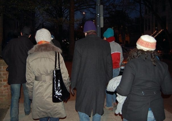 Washington DC - Presidential Inauguration - Walking to the lawn of the lawn of the US Capital early in the morning