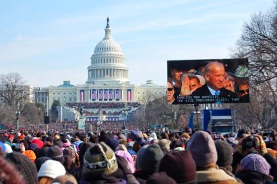 Washington DC - Presidential Inauguration - Joe Biden getting sworn in as Vice President