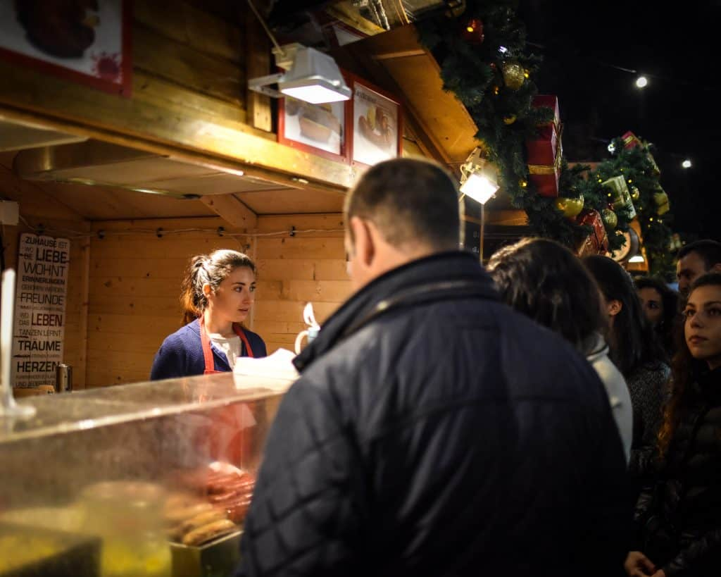 Serving Bratwurst and Sauerkraut to the Bulgarians