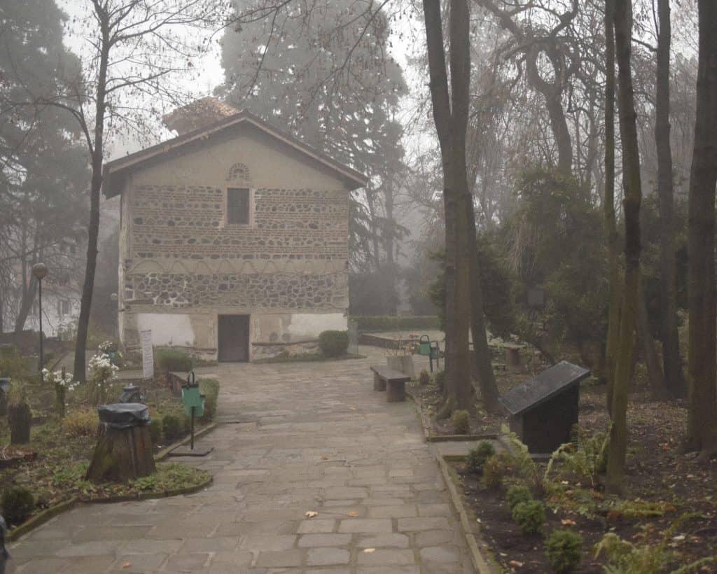 Walking up to Boyana Church