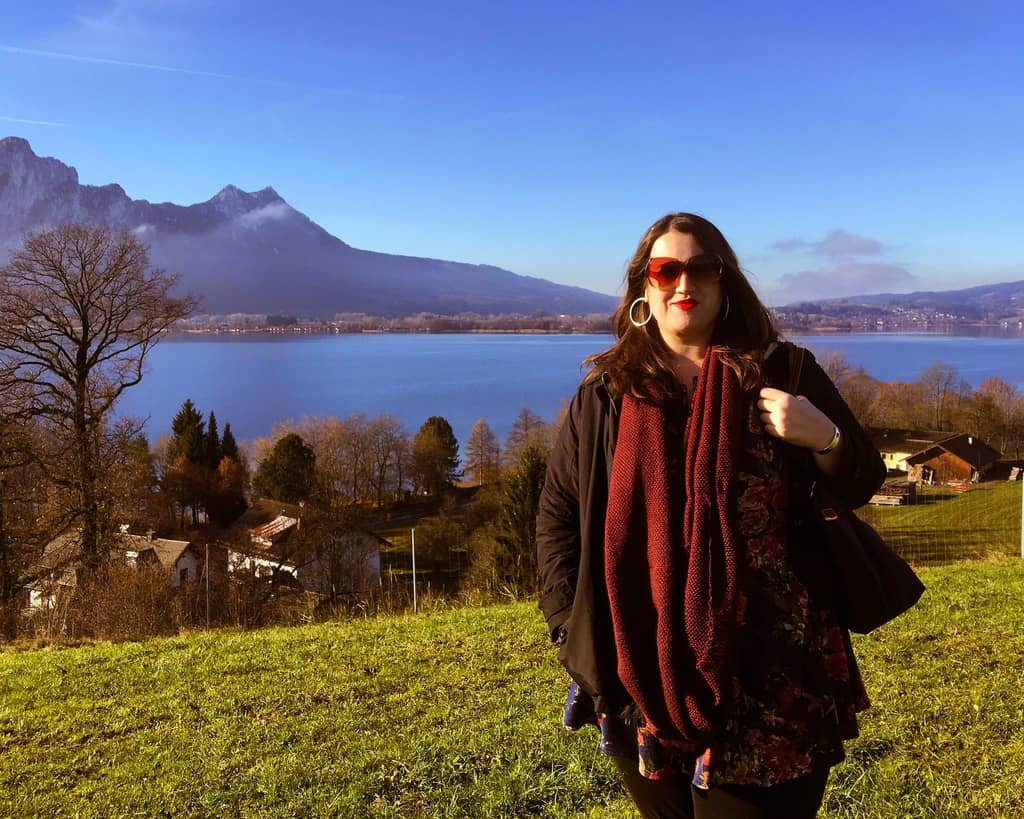 In the Austrian Lake District (also, not a selfie, are you proud?)