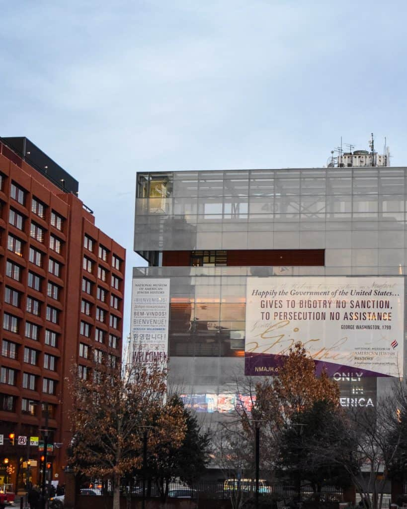 The nearby Jewish History Museum