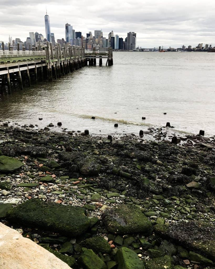 Walking around Liberty Island