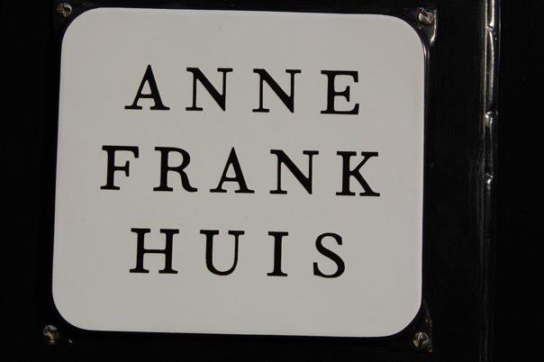 The Sign Outside the Anne Frank House