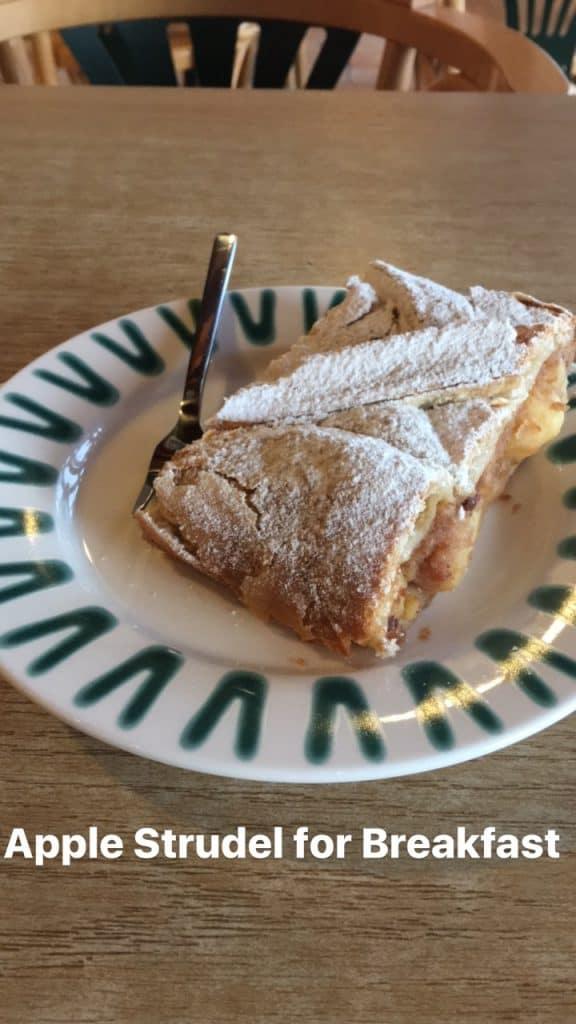 Apple Strudel for Breakfast on the Road to Salzburg, Austria