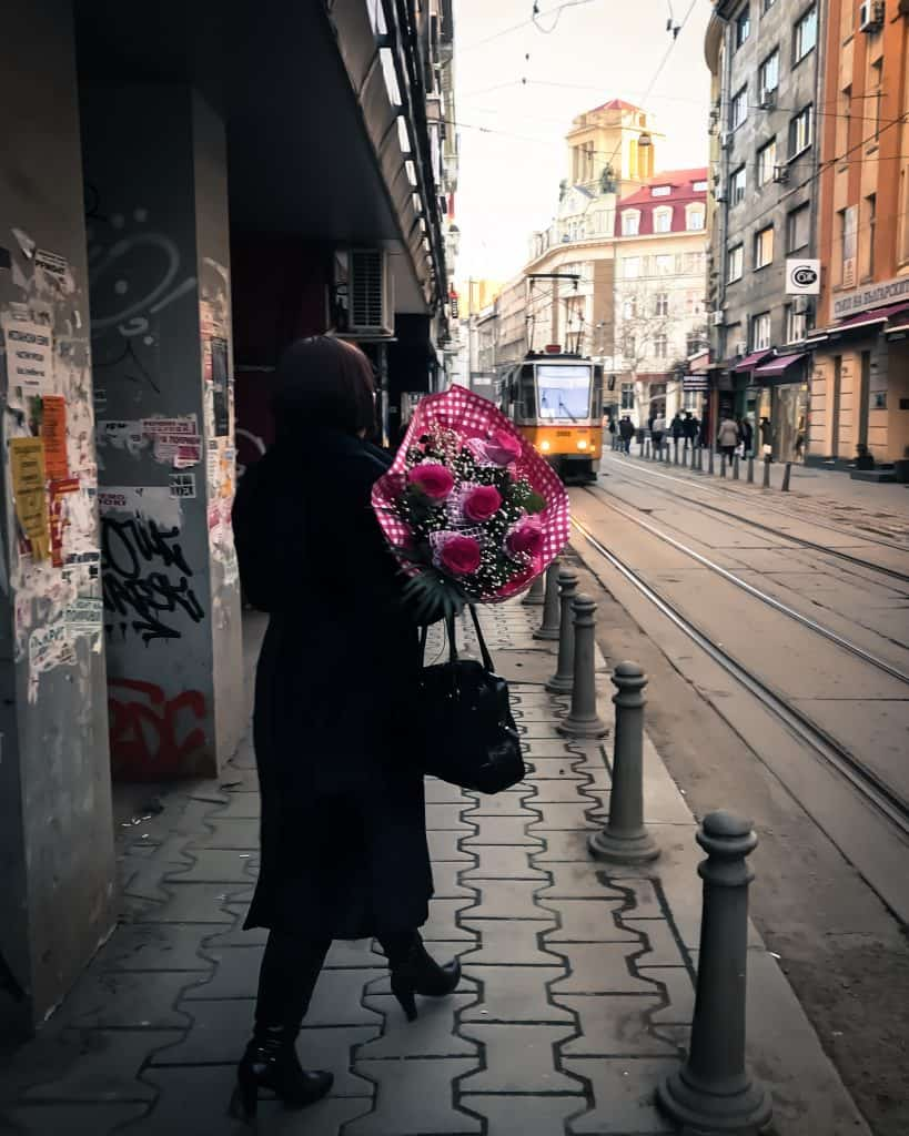 Snapped walking through Sofia on Valentine's Day