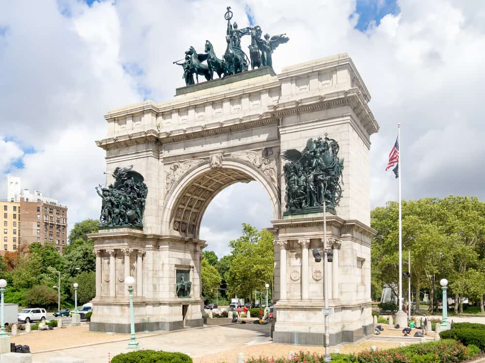 USA - New York - Triumphal Arch at the Grand Army Plaza in Brooklyn, New York City