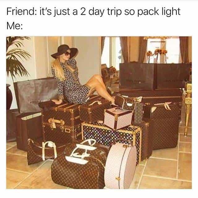 packing travel meme