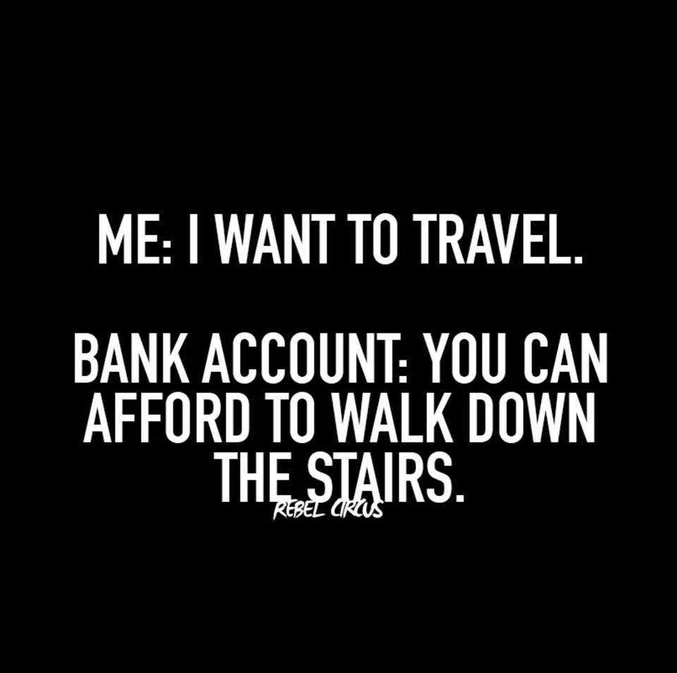 travel budget meme