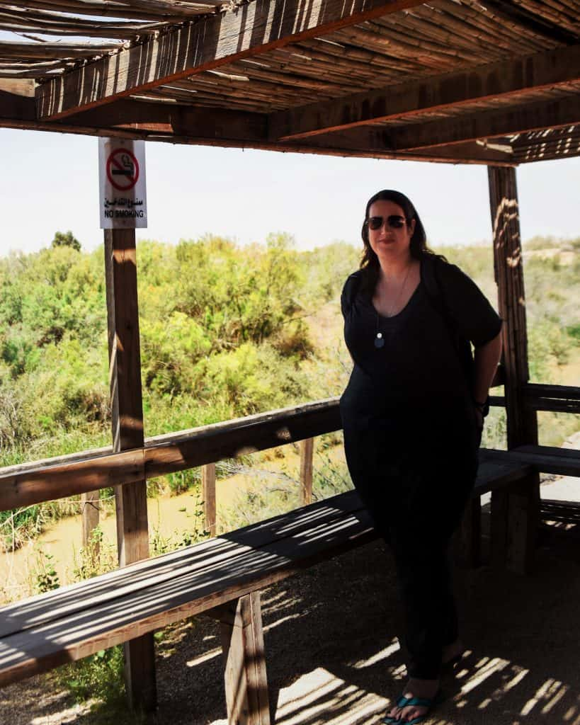 Standing in front of the Jordan River