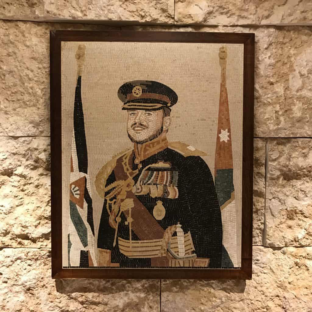 A mosaic of King Abdullah II