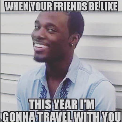 friends travel meme