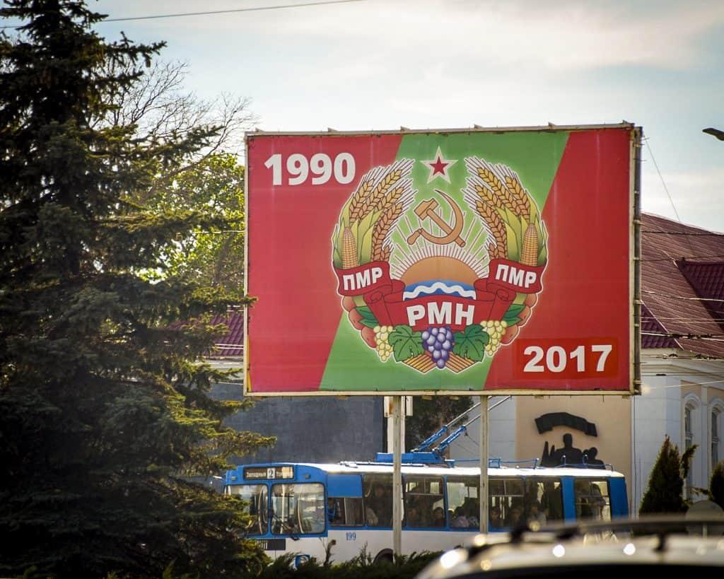 A sign in Transnistria