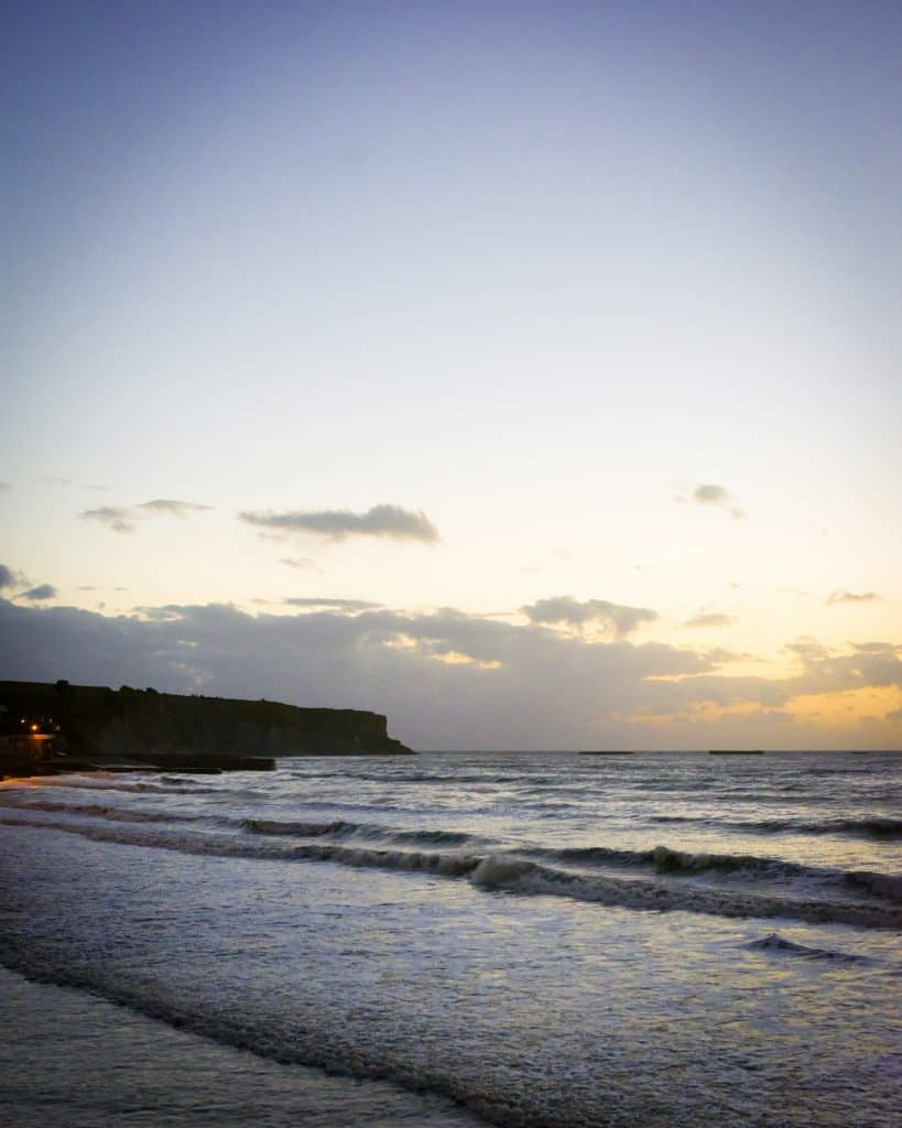 Gold Beach at Sunset. Gold beach is one of the two beaches stormed by the British.