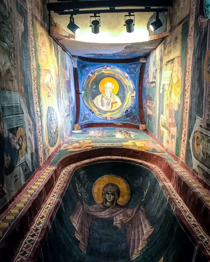 A fresco in one of the domes