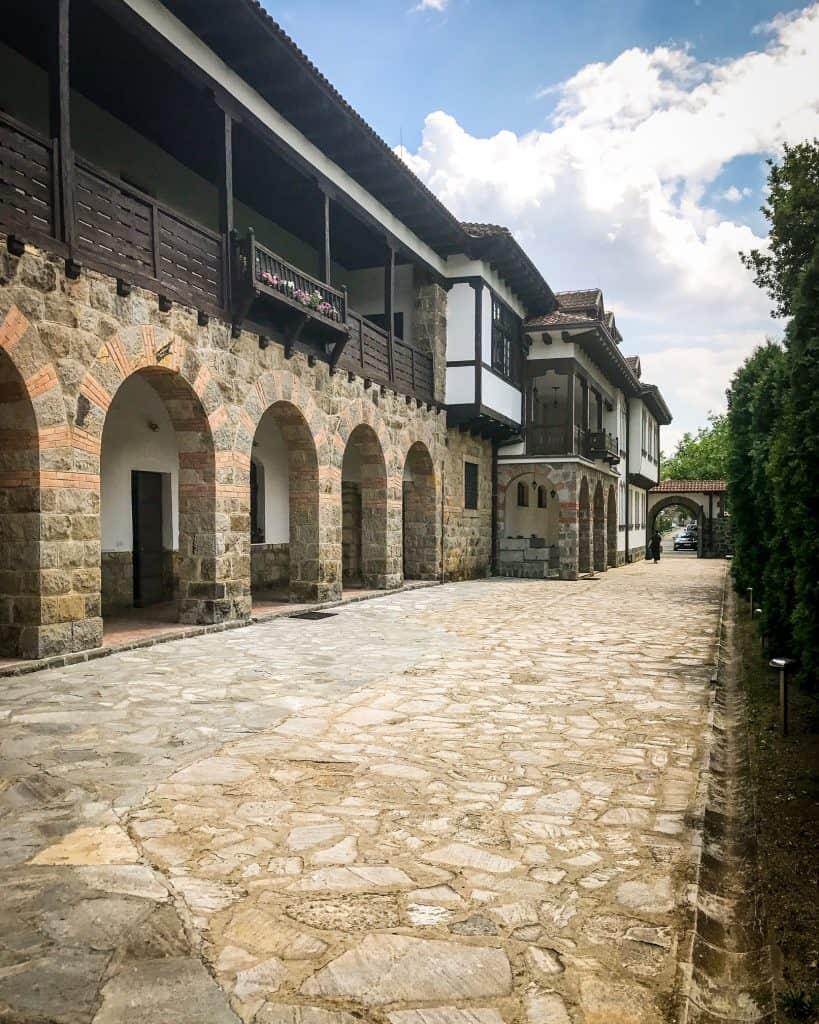 The monastery's living quarters, where 24 nuns live