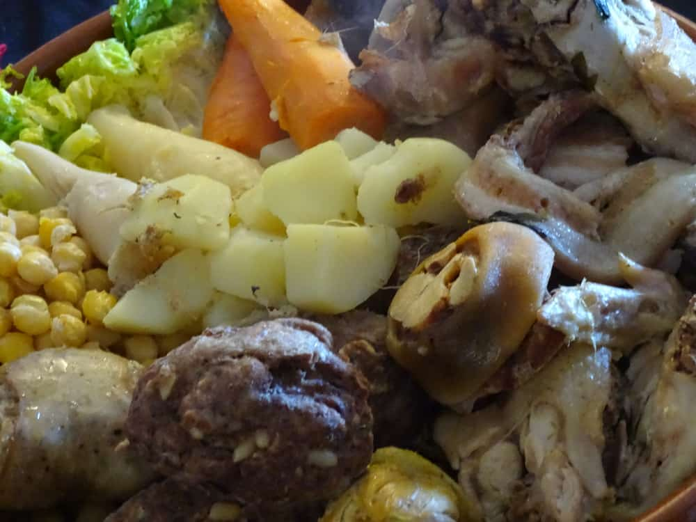 Andorra - carn dolla, typical catalan meat and vegetables of a soup escudella for christmas