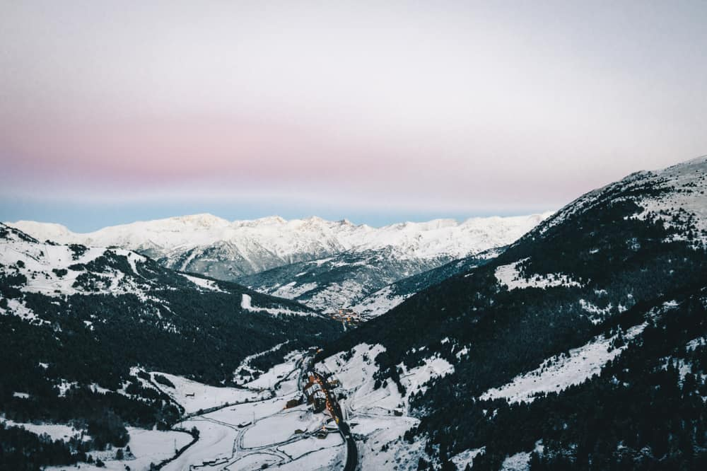 Andorra - The Snowy To The Andorra City.